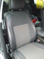 Авточехлы Premium для салона Ssang Yong Korando '11- красная строчка (MW Brothers)