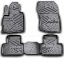 Коврики в салон для Citroen C4 Aircross '12- полиуретановые, черные (Novline / Element)