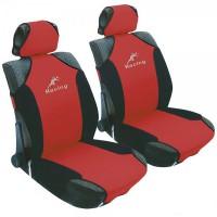Чехлы (майки) универсальные на передние сиденья MILEX Racing P, красные