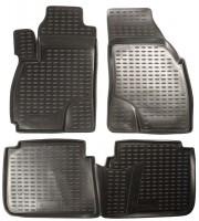 Коврики в салон для Hyundai Santa Fe '01-06 SM полиуретановые, черные (Novline / Element)