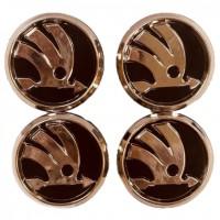 Колпачки на диски для Skoda KOD 004 60*55 мм (4 шт.)