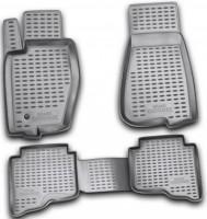 Коврики в салон для Jeep Grand Cherokee '04-10 полиуретановые, серые (Novline / Element)