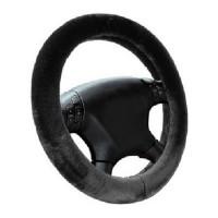 Чехол на руль черный, мех (EL 105 445) М