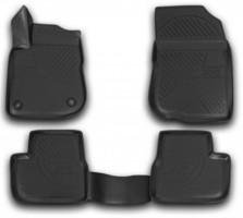 Коврики в салон 3D для Peugeot 208 '12- полиуретановые, черные (Novline / Element)