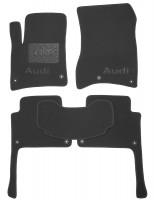 Коврики в салон для Audi Q7 '05-14 текстильные, черные (Премиум) 8 клипс