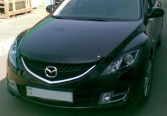 Защита фар для Mazda 6 '08 прозрачная 2 шт (EGR)