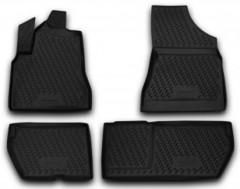 Коврики в салон для Peugeot Partner '08- полиуретановые, черные (Novline)