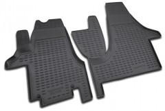 Коврики в салон для Volkswagen Transporter T5 '03- полиуретановые, черные (Novline / Element) передние, Multivan
