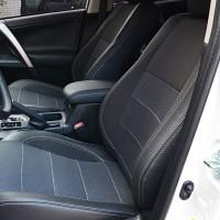 Авточохли Premium для салону Fiat Doblo '10-, Cargo (1+1) сіра строчка (MW Brothers)