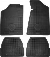 Коврики в салон для Audi 80 '86-94 резиновые, черные (Doma)