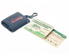Фото товара 3 - Салфетка из микрофибры Tramp в чехле с карабином, 15х15 см