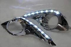 Дневные ходовые огни для Toyota Highlander '10-13 Chrome (LED-DRL)