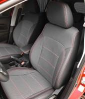 Авточехлы Premium для салона Volkswagen Passat B5 '00-05, универсал, красная строчка (MW Brothers)