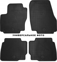 Коврики в салон для Renault Kangoo '09- резиновые, черные (Doma) передние