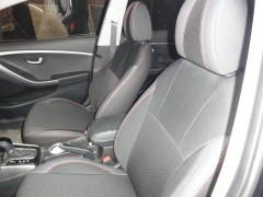 Авточехлы Premium для салона Hyundai i30 FL '13-16 красная строчка (MW Brothers)