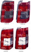 Фонарь задний для Citroen Berlingo '97-02 левый (DEPO) 2 двери, дымчатая вставка 552-1909L-UE