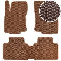 Коврики в салон для Nissan Rogue '14-, EVA-полимерные, коричневые (Kinetic)