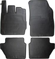 Коврики в салон для Ford Fiesta '11-17 резиновые, черные (Petex)