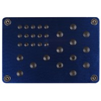 Подпятник для ковриков металлический (15х22см) с креплением, синий