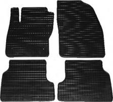 Коврики в салон для Ford Focus II '04-11 резиновые, черные (Petex)