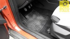 Коврики в салон для Ford Focus III '11- резиновые, черные (Petex)