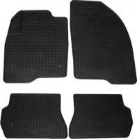 Коврики в салон для Mazda 2 '03-07 резиновые, черные (Petex)