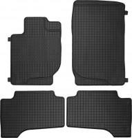 Коврики в салон для Mitsubishi L200 / Triton '10-15 резиновые, черные (Petex)