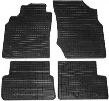 Коврики в салон для Nissan Almera '00-06 резиновые, черные (Petex)