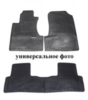 Коврики в салон для Nissan Micra '10-17 резиновые, черные (Petex)