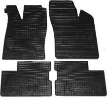 Коврики в салон для Opel Astra F '91-98 резиновые, черные (Petex)