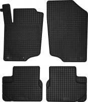 Коврики в салон для Peugeot 207 '06-12 резиновые, черные (Petex)