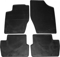 Коврики в салон для Peugeot 307 '01-07 резиновые, черные (Petex)