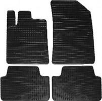 Коврики в салон для Peugeot 407 '04-10 резиновые, черные (Petex)