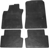 Коврики в салон для Renault Modus '04-12 резиновые, черные (Petex)