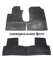 Коврики в салон для Renault Sandero '08-12 резиновые, черные (Petex)