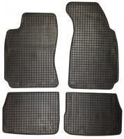 Коврики в салон для Skoda Superb '02-08 резиновые, черные (Petex)