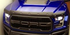 Дефлектор капота для Ford F-150 Raptor '17- , текстурированный, с болтами (ToughGuard)