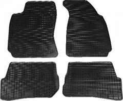 Коврики в салон для Volkswagen Passat B5 '97-05 резиновые, черные (Petex)