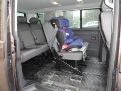 Коврики в салон для Volkswagen Transporter T5 '06- резиновые, черные (Petex) 2, 3 ряд