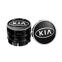 Колпачки на диски для KIA 60x55 мм черные 4 шт. (50027)