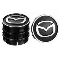 Колпачки на диски для Mazda 60x55 мм черные 4 шт. (50025)