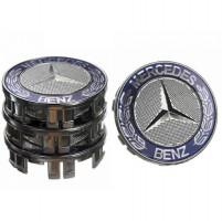 Колпачки на диски для Mercedes 75x70 мм серые 4 шт. (50034)