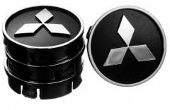 Ковпачки на диски для Mitsubishi 60x55 мм чорні 4 шт. (50024)