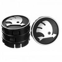 Ковпачки на диски для Skoda 60x55 мм чорні 4 шт. (50014)