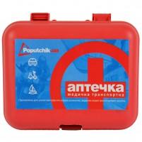 Аптечка первой медицинской помощи в пластиковом футляре 02-003-П Poputchik
