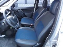 Авточехлы Premium для салона Lada (ВАЗ) Granta 2190 '11- синяя строчка (MW Brothers)