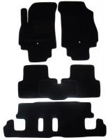 Коврики в салон для Chevrolet Orlando '11- текстильные, черные (Люкс) 1+2+3 ряд