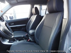 Авточехлы Premium для салона Suzuki Grand Vitara '06- красная строчка (MW Brothers)