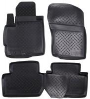 Коврики в салон для Mitsubishi Outlander XL '07-12 полиуретановые, черные (Nor-Plast)