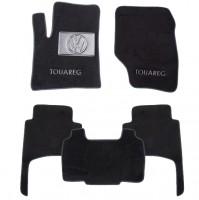Коврики в салон для Volkswagen Touareg '02-09 текстильные, черные (Люкс)